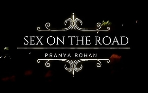 Desi Wife Pranya Screaming and Abusing Loud on open road while fucking by Couple Friend Economize on - Left alone Video/Hindi Audio/Desi Gaali