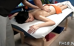 Hawt 18 year old cutie gets drilled hard by her massage therapist