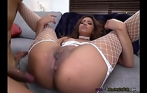 Sexy Babe Nicole Rey Enjoys Big Chocolate Dick