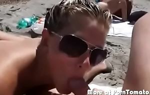Nude beach sucking cock concerning public concerning front of people