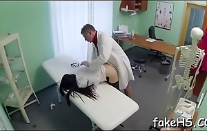 Soaked slit of a seductive doctor gets annihilated mercilessly