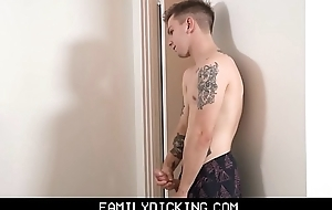 Blonde Twink Stepson Masturbates And Records Selfies While Stepdad Snowfall