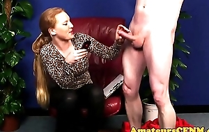 Bigtits domina raillery during CFNM
