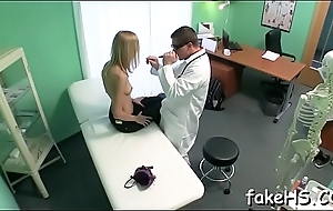 Nice-looking doctor gets drilled by an agile fuckmate
