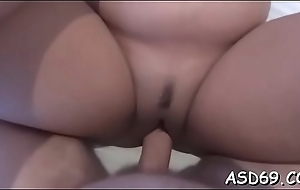 Alluring thai slut bounces on a hard one-eyed monster and moans loudly
