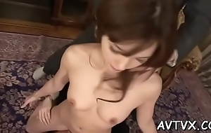 Excited oriental gives fantastic blowjob after deep fingering