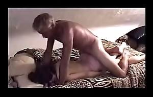 Mature sub-slut blindfolded and chains
