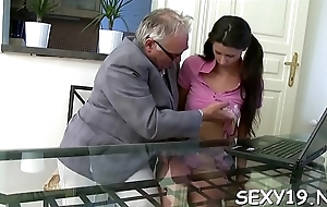 Concupiscent aged teacher is pounding chick'_s twat tenaciously