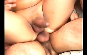 Tranny with her girlfriend are ready to experiment with a horny dude