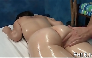 Wicked babe fucks and gives a hot massage!