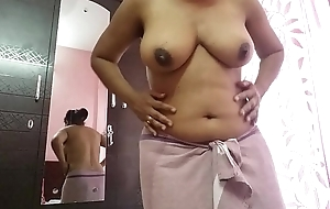 Sexy girl masturbating in front of mirror