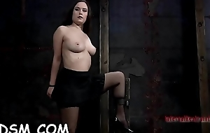 Pretty tied up honey receives lusty whipping on their way body