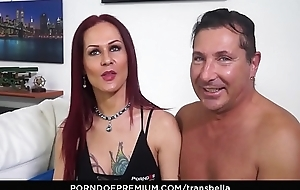 TRANS BELLA - Anal sex goes both ways for trans chick and lover