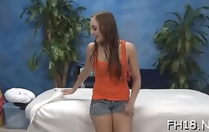 Stunning sweetheart plays with guy'_s cock by hands and mouth
