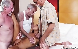 Old russian woman Staycation with a Latin Hottie