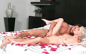 Stud impales wet pussy of sweet blonde with his cock