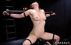 Slave fucked with dick on a stick