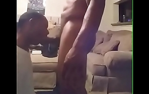 My Gay top Daddy cant stop choking me with his dick. He deep throated me Good!!!